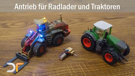 Getriebebausatz für Radlader, Traktoren und lagsam fahrende Fahrzeuge im Maßstab 1:87 / H0