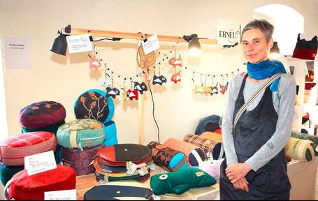 Heike Adler auf dem 5. Textilkunst Markt im Waldviertel 2019