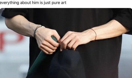 Man's forearms