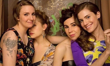 The 4 actors from Girls, including Allison Williams