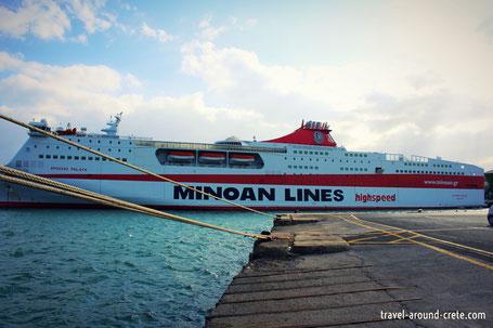 Ferry to athens, Minoan lines, highspeed minoan lines, athen fähre, autofähre athen, autofähre heraklion, transport to crete, autofähre kreta, vessel to crete