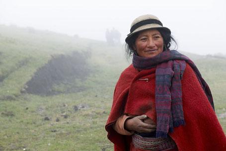 Mujer indígena de la provincia  de Chimborazo, Ecuador