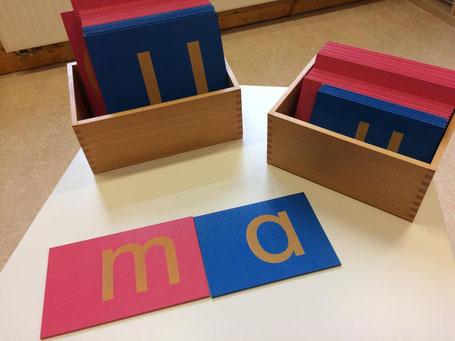 Die Sandpapierbuchstaben