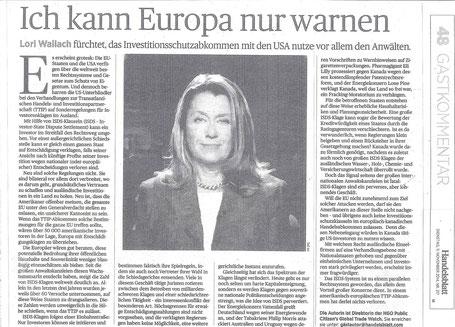 Handelsblatt 11. November 2014