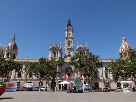 Plaza del Ayuntamiento Rathaus Valencia Altstadt