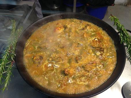 Paella Valenciana Valencia kochen Kochkurs cooking