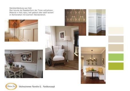 Bild: Wohnzimmer im Landhausstil