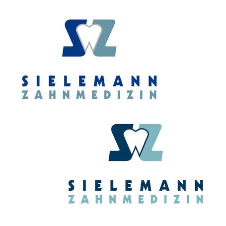 die Kontur der Zahn-Silhouette fügt sich besser ein aus derselben Farbgebung wie das S links. Das Logo ist nun dunkelblau und petrol.