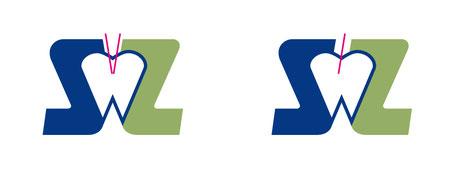 Der Anfang des Striches beider Lettern in der fetten Groteskschrift ist im ersten Beispiel gespiegelt, im zweiten parallel.