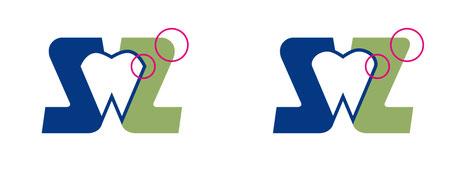 das erste Beispiel ist immer noch wie S und Z gespiegelt, im zweiten Beispiel ist das Z etwas weniger rundlich