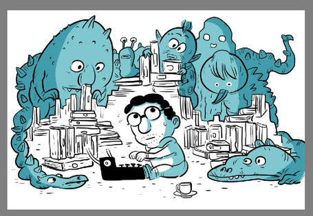 Thomas Klischke gezeichnet von Andreas Schuster
