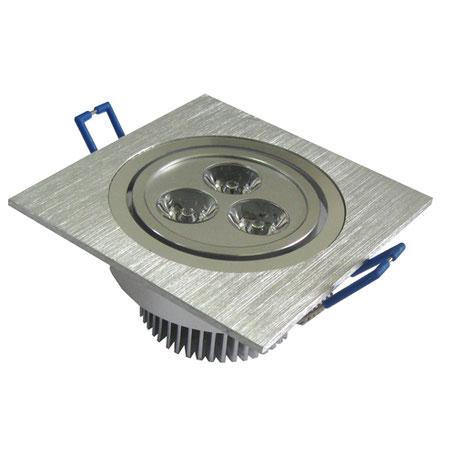 Vierkante led spot in aluminium