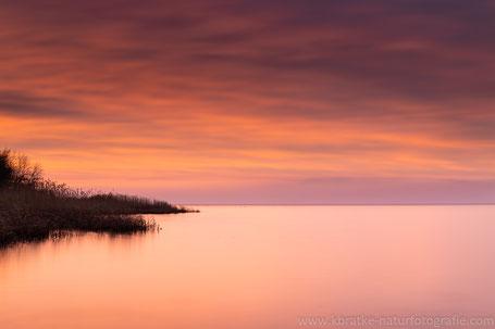 Sonnenuntergang am Salzhaff