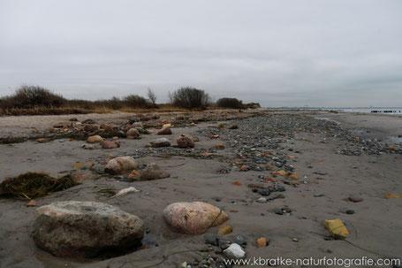 Strand im Bereich des Heiligensees - keine Küstenschutzdüne mehr!