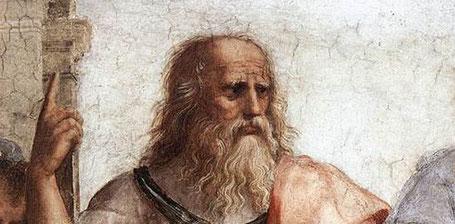 """Raffaello Sanzio, un particolare di """"La scuola di Atene"""", 1511"""