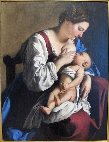 "Orazio Gentileschi, ""Madonna con bambino"" (1609)"