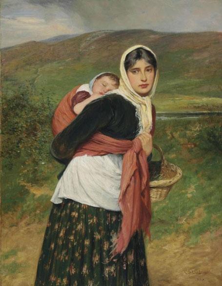 "Charles Sillem Lidderdale (1831-1895), ""Ritorno dal mercato"""