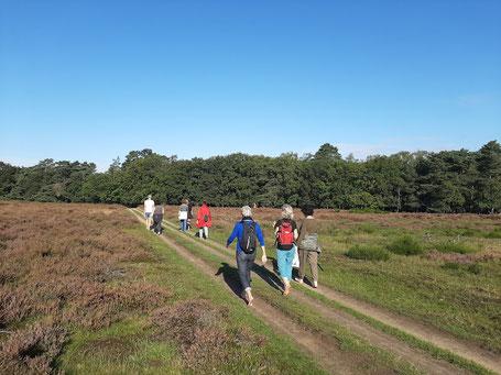 barefootwandelen Tafelbergheide Blaricum met wandelcoach Evert