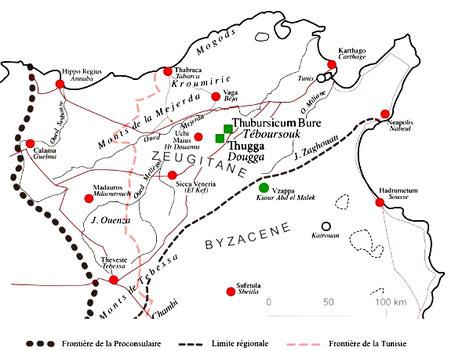 Henchir Douamis - Uchi Maius : Thugga et Thubursicum Bure dans le Nord de la Proconsulaire