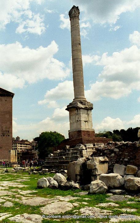 Rome - Forum Romanum : la Colonne Phocas - Italie