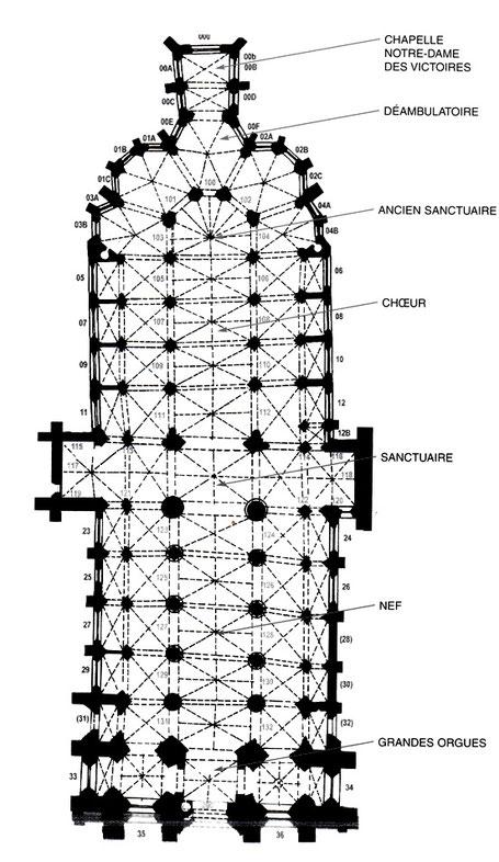 29 - Quimper : Plan de la Cathédrale Saint-Corentin - Finistère - France