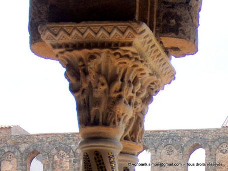 Cloître des Bénédictins (Monreale) : Histoire de Jean Baptiste (Chapiteau (XIII°)) - Sicile - Italie