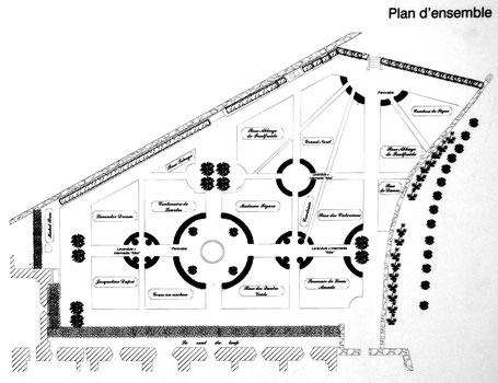 F - 11 - Fontfroide : Plan de la roseraie