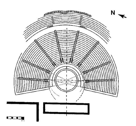 Lindos (Rhodes) : Plan du théâtre