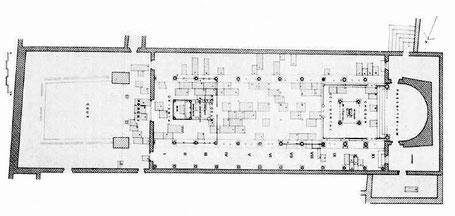 Haïdra (Ammaedara) : Plan de l'église de l'évêque Melléus -Basilique I-