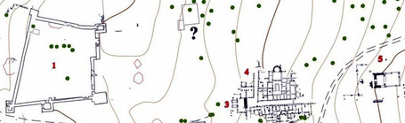 Aïn Tounga (Thignica) : Plan partiel