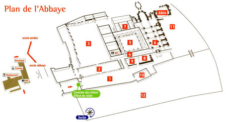 F - 11 - Fontfroide : Plan de l'abbaye