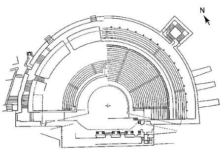 Kourion (Curium) : Plan du théâtre