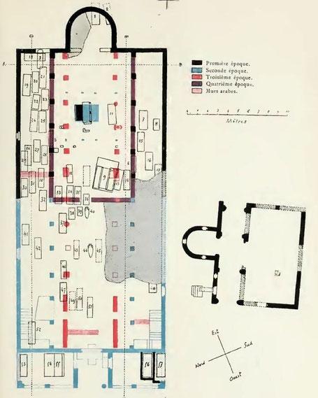 Tipasa : Plan de la basilique de Sainte Salsa