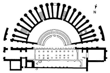 Tipasa de Maurétanie : Plan du Théâtre
