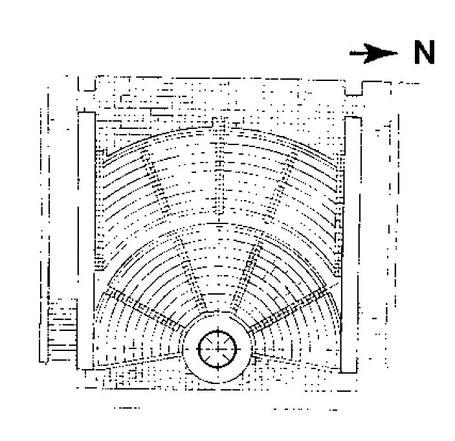Rhodes : Plan de l'Odéon situé sur l'Acropole - GR