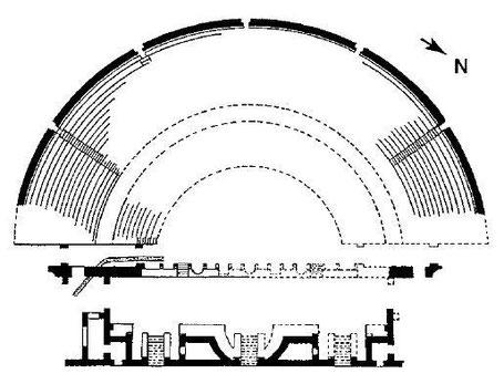 Djemila (Cuicul) : Plan du théâtre