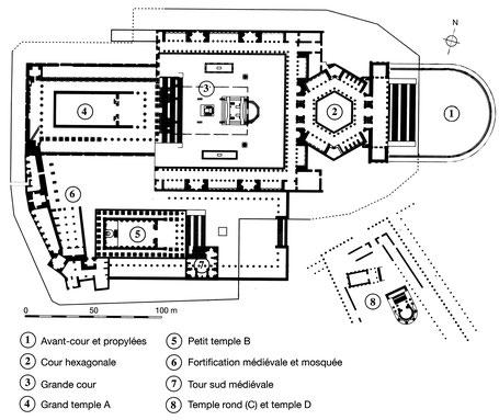 Baalbek : la Qalaa et ses abords (Plan d'après van Ess 1998)