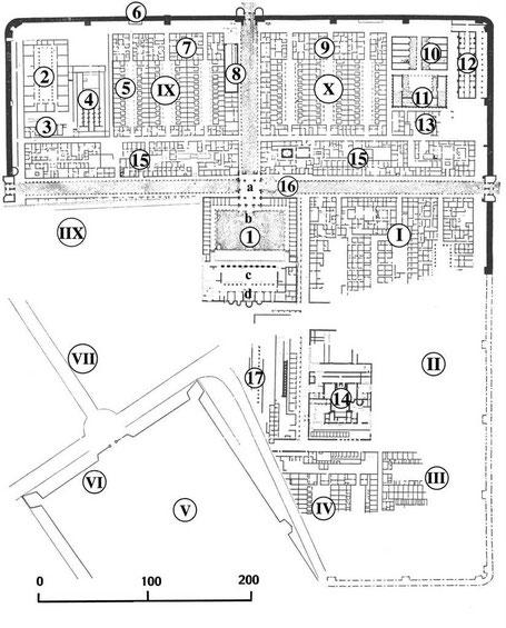"Tazoult-Lambèse - Lambaesis - Plan du ""Grand camp"""