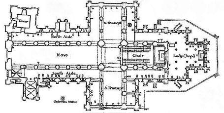 Dublin : Plan de la cathédrale Saint-Patrick - République d'Irlande - IRL