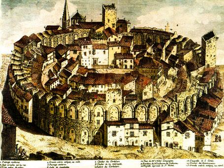 Arles (Arelate) : L'Amphithéâtre vers la fin du XVIII° siècle