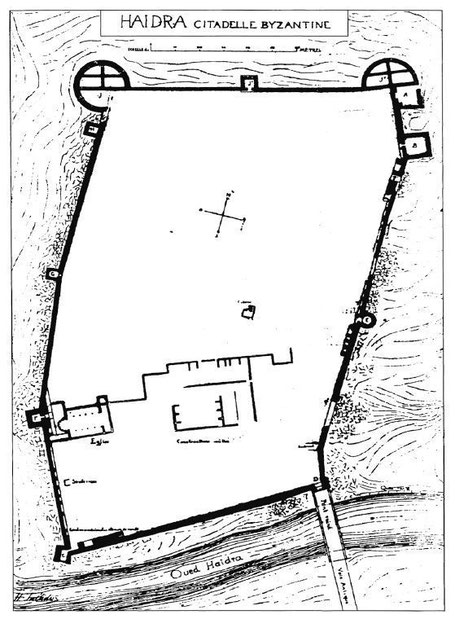 Haïdra (Ammaedara) : Plan de la citadelle byzantine