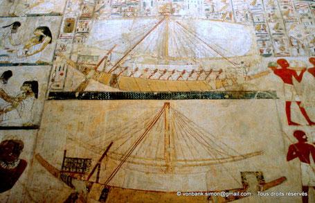 TT100 Rekhmirê : Les bateaux - Vallée des nobles - Egypte