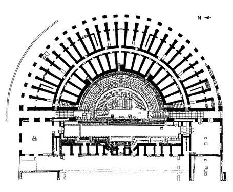 Arles (Arelate) : Plan du Théâtre