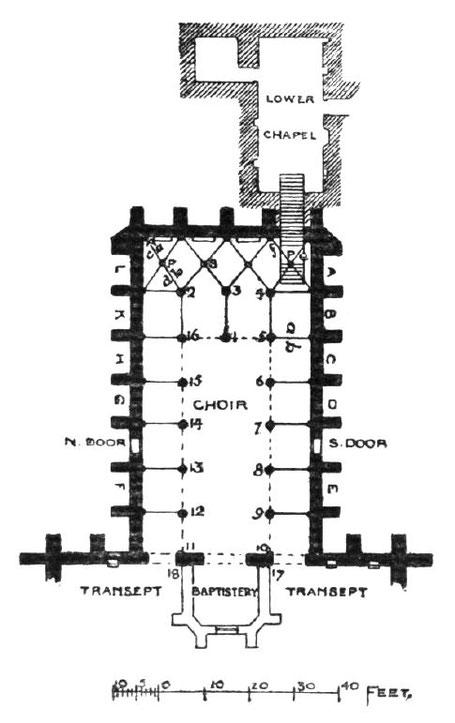 Ecosse - Chapelle Rosslyn : Plan - Royaume-Uni - GB