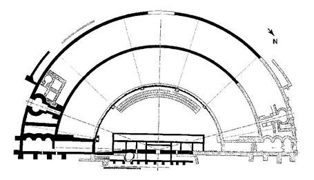 Les Bouchauds (Germanicomagus) : Plan du théâtre