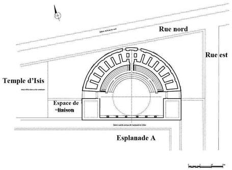 Bulla Regia : Plan du Théâtre (1er état)