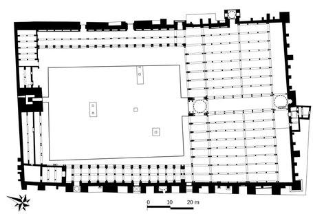Kairouan : Plan de la Mosquée Oqba Ibn Nafi