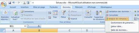 XLpourTPME : le solveur est un outil disponible dans les menus standards