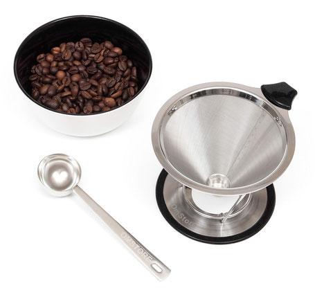 предметная съемка для каталога Amazon - набор для заваривания кофе