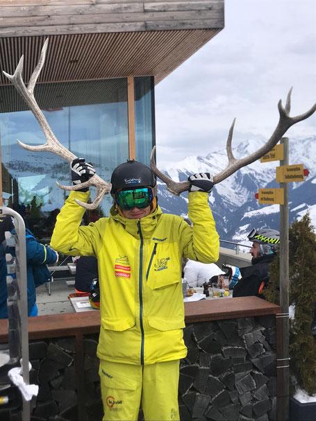 Der Spass stand am Skiweekend in Obersaxen an erster Stelle